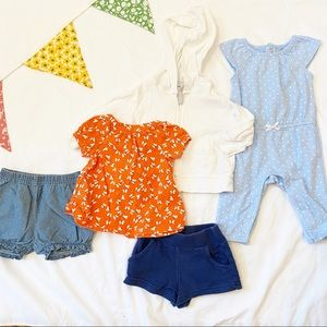 Carter's Baby Girl Summer Clothes Size 3 Months